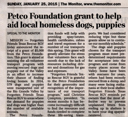 Petco Newspaper 2015